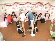 These Asian maids are getting lessons in messy sex as they are covered in different condiments.
