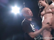 Rough group sex scene with busty Yumi Kazama - Weird Japan.