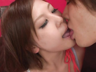 Nozomi Nishiyama enjoying top asian gang bang sex.