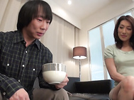 Top Asian anal sex with curvy ass mom?A Marina Matsumoto?A .