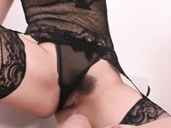 Alice Ozawa In Stockings Gives A POV Blowjob.