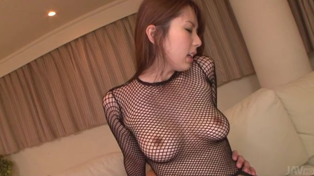 She's fucked hard thanks to having two guys at her disposal, banging her mouth and pussy.