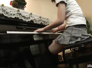 Hana Bends Over In Her Stockings For A Toy Fucking.