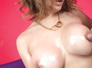 When you see how Yuki Touma's big asian tits shine when they're covered with oil, you're going to wish that she was rubbing them up and down your own cock! She sucks him stiff, and then looks at him while giving him a boob fucking he won't forget ever!.
