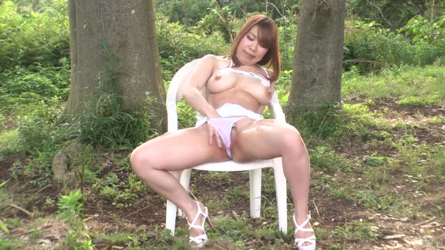 Needy for cock and very horny Japanese babe with big tits, Iroha Suzumura, looks dashing in this sexy outdoor porn show.