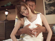 Girl with big Asian tits,Mikuru Shiina, endures harsh sex.