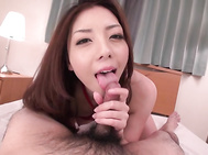 Sweetie amazes with warm finger fucking solo scenes, prior for her moist lips to start providing the guy amazing Asian blowjob in POV.