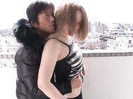 Two cocks is exactly what Alice Ozawa wishes for and gets here, as this curvy teen starts off by sucking them while getting fingered.