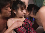 Asian gangbang along steamy JapaneseNatsuki Shino.