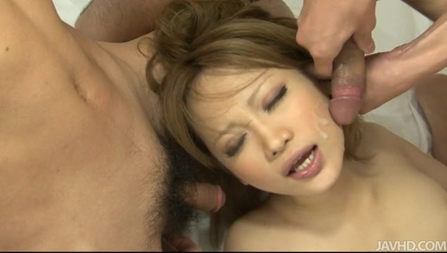 When she lies down, she feels a hot creampie shoot in her snatch.