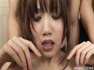 Servicing every cock that cums her way, skinny teen Ageha Kinashita in stockings keeps her legs open and her mouth open to invite every dick and every sex toy that is around her.