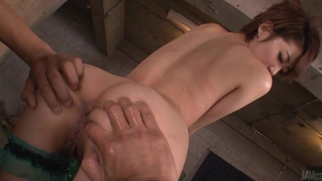It's been a while since slim Japanese hottie, Makoto Yuukia, had sex with two men in the same time and this time her luck changed, two hot studs being available and more than willing to have sex with her.