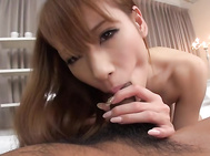This horny male has a strong as well as very massive dong, ready to devour the babe's fine cherry but not before having her sucking it like a sleazy bimbo.