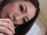 Curvy ass Japanese babe sure loves feling cum splashing over her warm clit.