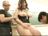 The classroom turns into a naughty fuck palace for Yume Sazanami and her two friends here, as they heed the calling of her big boobs and her juicy ass in for this threesome.