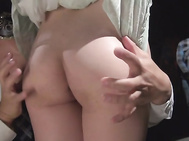 Kanako Iioka removing her lingerie to fuck.