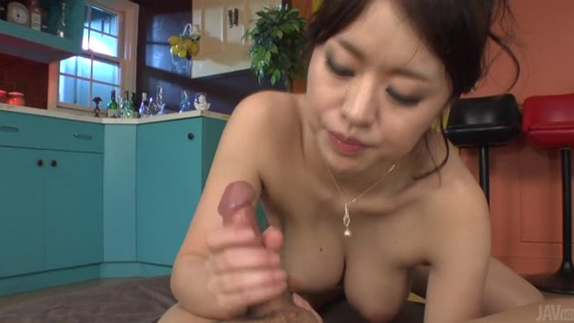 Insolent Japanese beauty in sexy lingerie, Kaede Niiyama, feels needy to suck this dick and feel it down her throat for a passionate show.