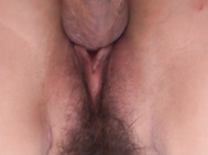 The sleazy lingerie model provides oral stimulation and then gets on fucking, leaving both lads to take good care of her creamy bush.