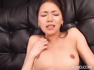 Asian angel with black stockings on, Kaede, craves for her partner to smash her tight Asian pussy in really rough ways.