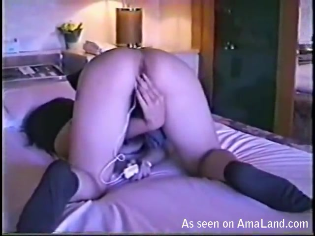 Japanese GF playing with her pussy and fucking. 3