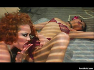Sexy Audrey Hollander and Nyomi Marcela get double penetrated in gangbang. 2