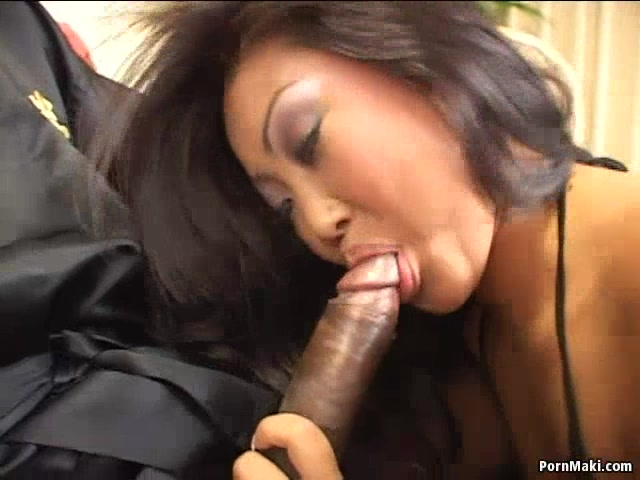 Amazing Asian babe Lucy Lee gets her butt fucked by a big black dick.