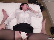 Japanese office lady, Emi is sucking dick, uncensored