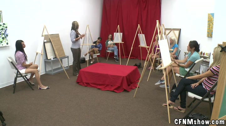 This week we set up some cameras and our own studs inside an adult art class.