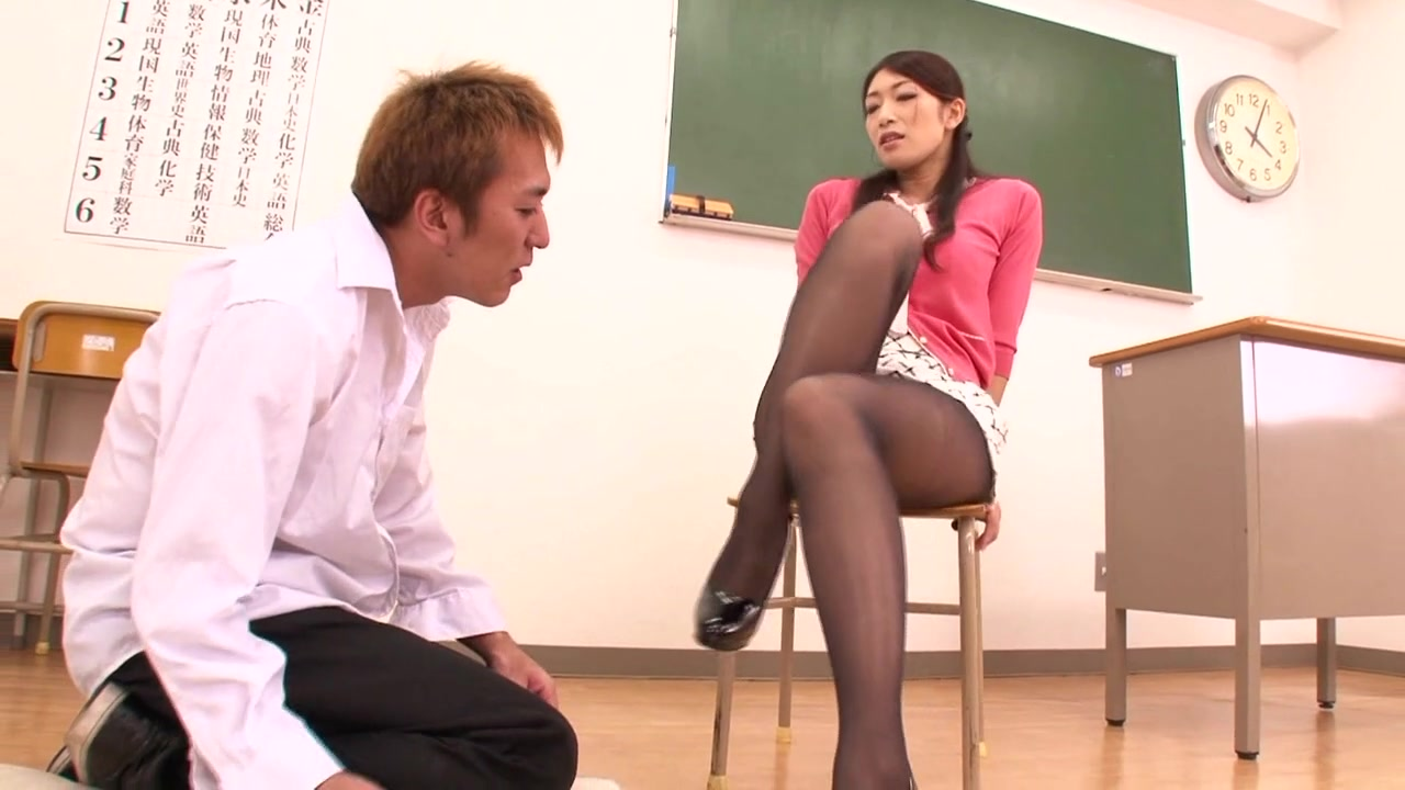 During an exam, Reiko catches one of her students cheating on the test, so she asks him to stay after class.