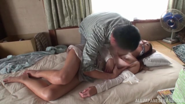 He teases her and gags her so she can't protest his stimulation of her shaved cunt and licks it for her.