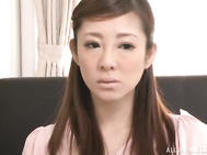 Awesome Minori Hatsune sexy Asian office lady enjoys pov threesome Video Online.