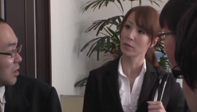 Alluring Japanese babe Reiko Sawamura in hot Asian anal action.