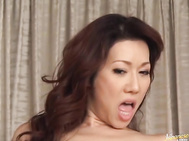Amazing Japanese sweetie Misuzu Shiratori has hot sex with two massive dudes.