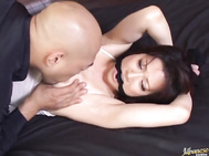 Kinky Asian girl Misuzu Shiratori experiences anal fisting and sucks rod.