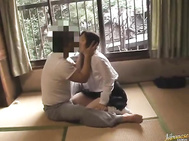 The guy stimulates her naughty pussy and licks her sweet ass, and then makes a cute pussy rubbing, making the young girl scream from passion.