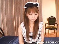 Sexy maid with tight butt Kokoro Wakana gets anal and pussy pounded.