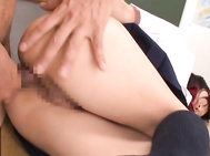 They explore her nice ass and insert anal beads inside her anus, and then fuck her head and butt hard, giving the hot chick incredible pleasure and delight.