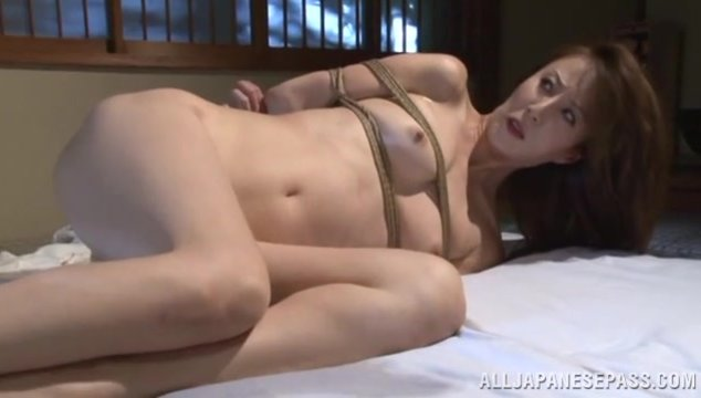 She gets tied up and gets her ass hole stuffes with vibrators and enema, enjoying this kinky insertions, and it looks awesome when you see her anal streaming.