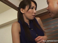 Very sexy Japanese mature chick Shiho in hot anal porn action.