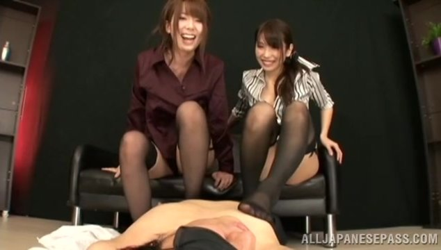 Superb Japanese babe in sexy stockings Yui Hatano enjoys having a huge cock gently pounding her in the ass during amazing Asian anal porn session that makes her moan and beg for deep and hard action.