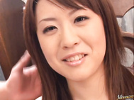 Nana Aoyama Naughty Asian babe enjoys fucking and sucking cock for a faceful of cum.