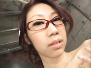 Fukka Takanashi Hot Asian doll is sucking cock in the garage.