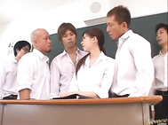Hot Asian Teacher Gang Banged.