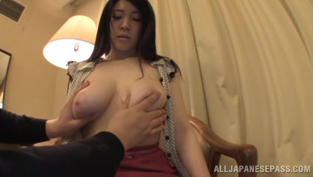 Japanese milf with amazing tits, Sena Minami, sure loves to pose on cam and provide steamy views of her wet pussy and large boobs in naughty scenes.
