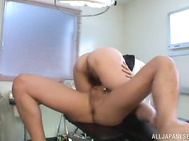 Watch the horny babe kneeling while the guy dominates her, sucking his cock like a filthy bimbo before letting him smash her tight vagina in a wild hardcore fuck show.