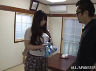 Curvaceous Japanese chick Sayuki Kanno shows off her juicy body.