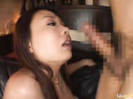 This lovely Japanese milf is sexy in her lingerie.