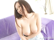 Luscious Japanese milf with amazing big juicy boobs Akane Mizusaki likes to show off her treasure in front of amateur cameras.