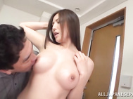 Seductive Japanese housewife, Yuna Shiina calls in cock to cream fill her lonely time at home.
