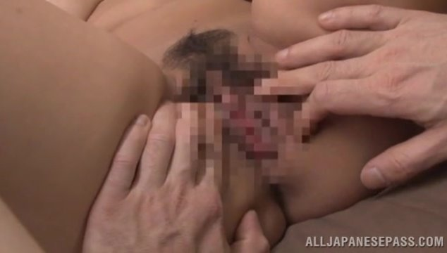 Very sexy Japanese hottie with huge tits Ruri Saijoh has a hard fucking with one young and active guy who gives her incredible sexual pleasure by tits squeezing and fucking, and he bangs her in a really hard way, so she gets multiple orgasms and cum on he